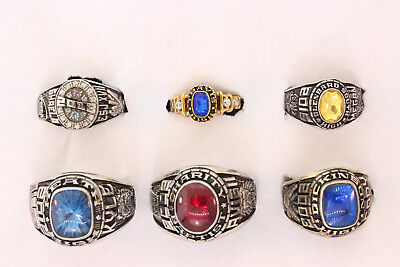 Wholesale Lot of 6 High School Class Rings