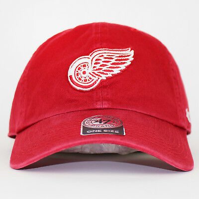 47 Brand NHL Detroit Red Wings Clean Up Cap One Size Red Dad Hat