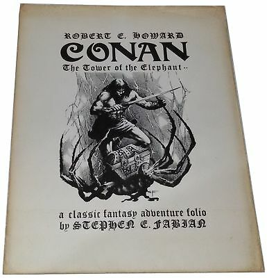 Conan Portfolio Tower Elephants Set 8 Prints Stephen Fabian Signed