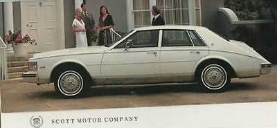 1985 Cadillac Seville Showroom Invitation Brochure with Envelope my3280