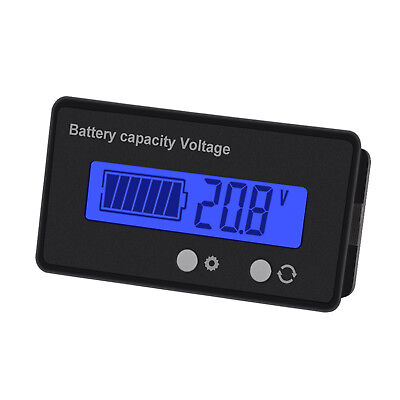 6-63V LCD Acid Lead Lithium Battery Capacity Indicator Voltmeter Voltage Tester