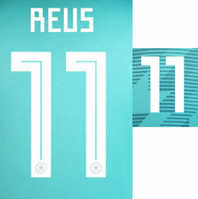 Reus 11 - 2018 World Cup Name Block For Germany Away = Adult Size