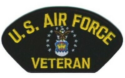"""MILITARY EMBROIDERED PATCH - US AIR FORCE VETERAN -- IRON-ON -- NEW 5x3"""""""
