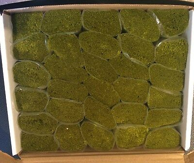30 packs latch hook yarn - 3 ply Moss Green 320 strands. Use with 4.5 hpi canvas