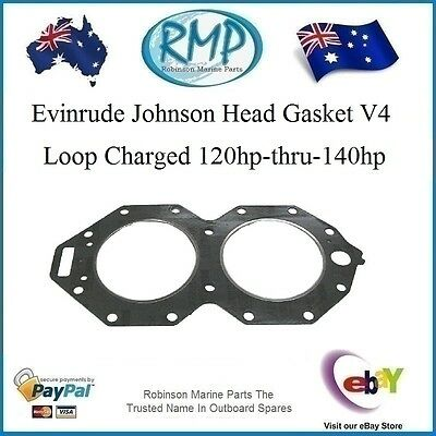 1 x New Head Gasket Suits Evinrude Johnson 120hp-thru-140hp # R 340115