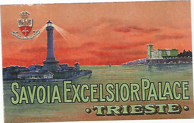 HOTEL SAVOIA EXCELSIOR PALACE luggage DECO label (TRIESTE)