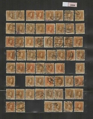 3358 Luxembourg - Marie-Adelaide lovely selection of USED stamps 30 Cents