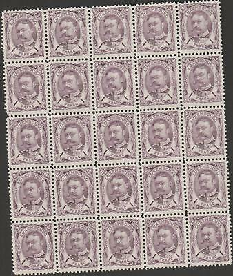 2144            Luxembourg bloc of 25 unused without gum still very very rare