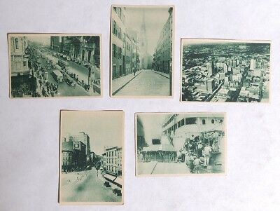 P154 Vintage Lot of 5: PULLMAN BREAD INSERT CARDS Travel Around The World 1920s[