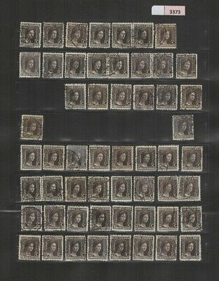 3373 Luxembourg - Marie-Adelaide selection of USED/MH stamps 37.5 Cents