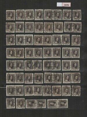 3376 Luxembourg - Marie-Adelaide lovely selection of USED stamps 37.5 Cents
