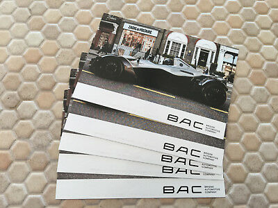 Bac Mono Sports Car Sales Promotional Post Card Set Of 5 Identical Cards