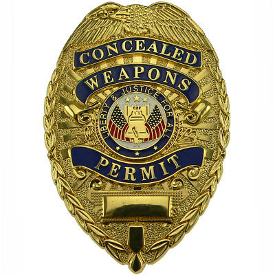 Rothco Concealed Weapons Permit Shield Badge Gold