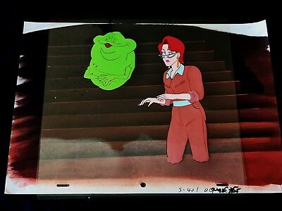 The Real Ghostbusters 1989 Animation Production JANINE SLIMER Cel Painted Back