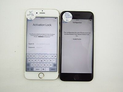 Lot of 2 Account Locked Apple iPhone 6S Unlocked Carrier Check IMEI 5AL 1065