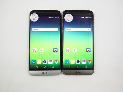 Lot of 2 LG G5 US992 U.S. Cellular Check IMEI Grade C 5-166