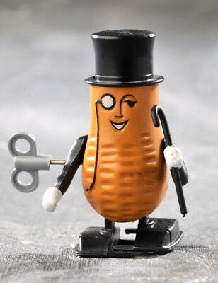 """1984 """"mr. Peanut"""" Wind Up Advertising Toy Planter's Peanuts For Display Only!"""
