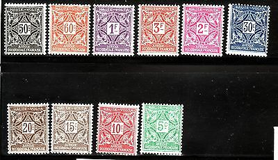 Burkina Faso Sc J11-20 LH set of 1928 - Good Postage Due set