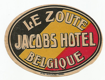 HOTEL JACOBS luggage label (LE ZOUTE)