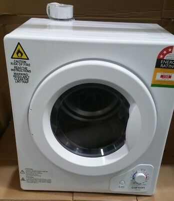 CARSON 4kg Clothes Dryer - 1200W Vented Tumble Drying Machine Front Loader