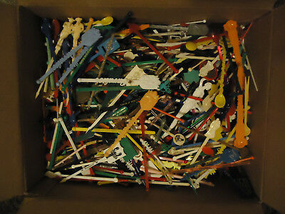 large box of assorted swizzle sticks drink stirs weighs 6 LBs
