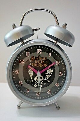 LAST ONE Nightmare Before Christmas Jack Double Bell Alarm Clock + CHARM