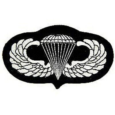 Military Embroidered Patch - Airborne Paratrooper Wings -- Iron-On -- New 3""