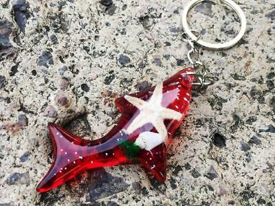 1pc fashion insect red  starfish fish style key-chains  yqt0026