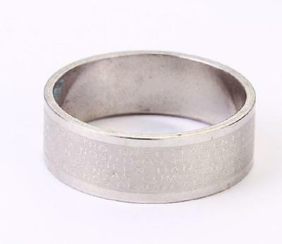 cool jewelry stainless steel solid bible cool rings  size13 bzh01