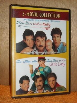 Three Men And A Baby/ Three Men And A Little Lady (DVD, 1990) NEW Tom Selleck
