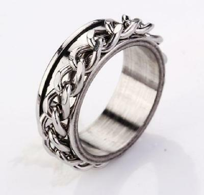 cool men jewelry stainless steel solid rings size 10