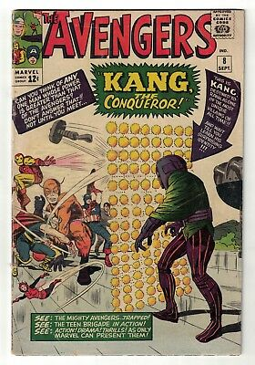 Marvel comics Avengers 8 1st Appearance Kang VGF 5.0  captain  iron man thor