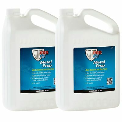 2 x POR15 Metal Paint Prep With Pump Spray - 1 US Gallon (3.78 Litre)