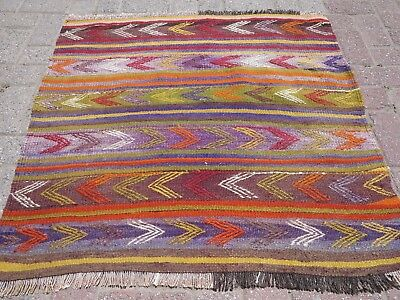 "Small Vintage Turkish Kilim Rug,Door Mat,Tapis 38,5""x37,7""Small Area Rugs,Carpet"