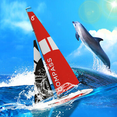 Volantexrc 791-1 2.4G 4CH RC Boat Pre-assembled Sail DIY Waterproof Sailboat Toy