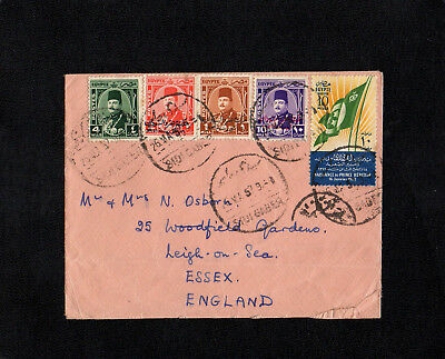 Egypt - 1952 - Crown Prince Ahmed Stamp On Censored Cover - With Sidi Gaber Cds