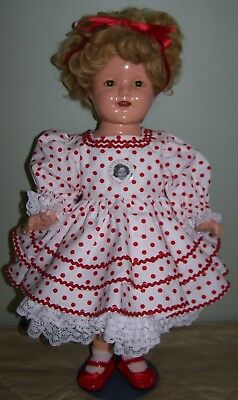 COMPOSITION IDEAL SHIRLEY TEMPLE DOLL - CIRCA 1930's