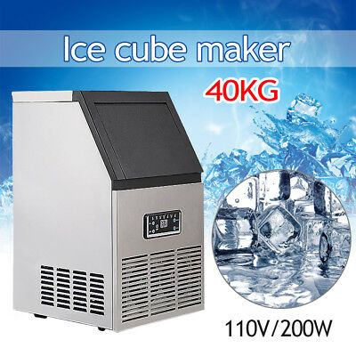 132LBs Stainless Steel Auto Commercial Ice Maker Cube Machine SK-60FF 110V 270W
