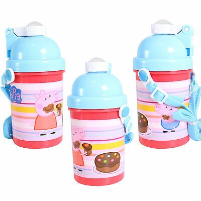 CB Pop-up Bottle with Lanyard - Back to School - Peppa Pig
