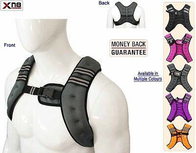 Weighted Vest 5Kg Weight Loss Training Running Adjustable Jacket Removable Weigh