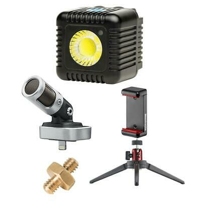 Lume Cube 1500 Lumen Dimmable Light, Single, Black - With Smartphone Acc Bundle