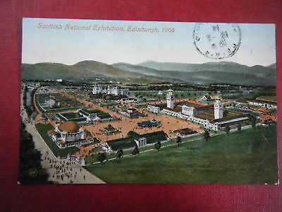 Scottish Exhibition, 1908: General View - Scarce Early Coloured Postcard!