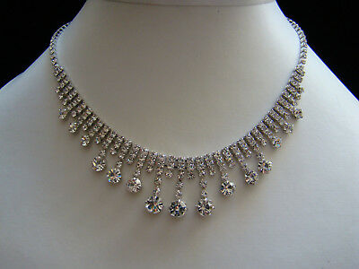 Stunning Necklace & Earrings Set, Clear Australia Crystals Wedding Jewelry N3033