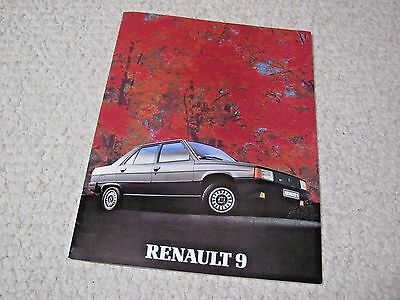 1984 Renault 9 (France) Sales Brochure...