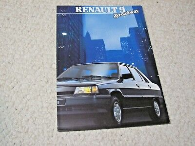 1987 Renault 9 Broadway (France) Sales Brochure....