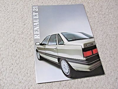 1987 Renault 21 (Fr) Sales Brochure In English..