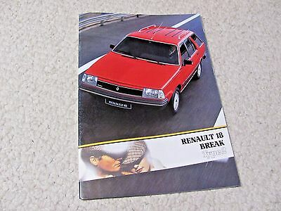 1984 Renault 18 Break (France) Sales Brochure..