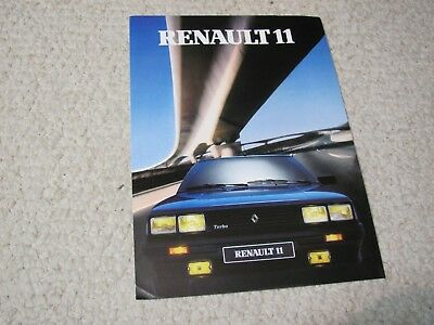 1986 Renault 11 (France) Sales Brochure....
