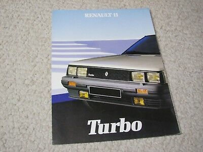 1984 Renault 11 Turbo (France) Sales Brochure....