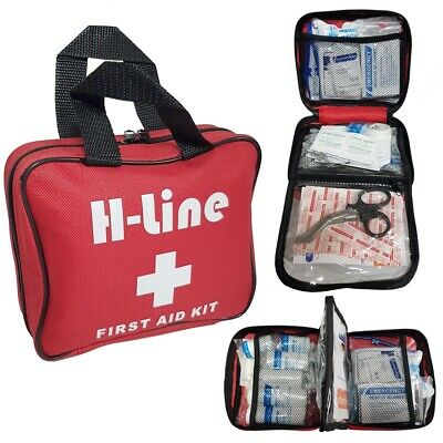 108 Piece First 1St Aid Kit Medical Emergency Travel Home Car Taxi Work Red Bag